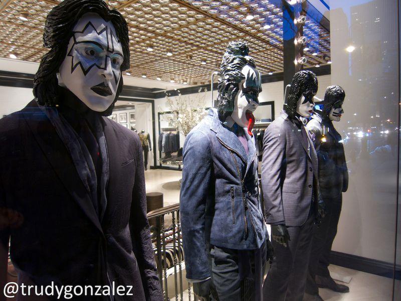 KISS Mannequins on Madison Avenue